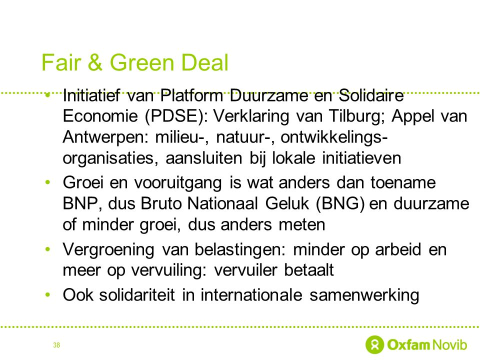 Fair & Green Deal