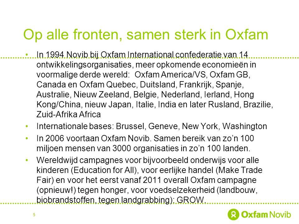 Op alle fronten, samen sterk in Oxfam