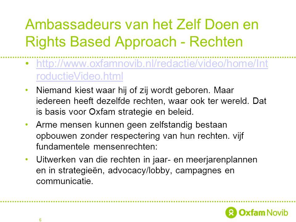 Ambassadeurs van het Zelf Doen en Rights Based Approach - Rechten
