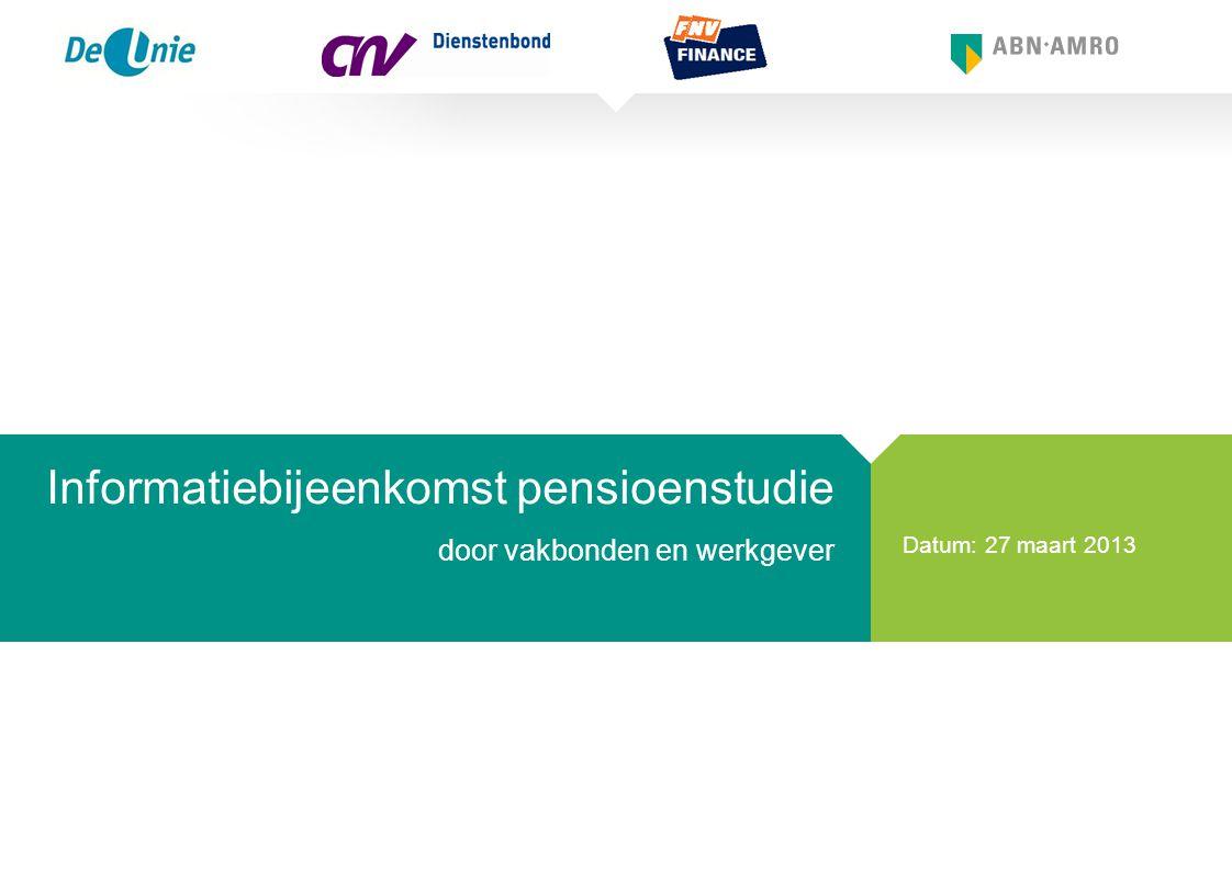 Informatiebijeenkomst pensioenstudie door vakbonden en werkgever