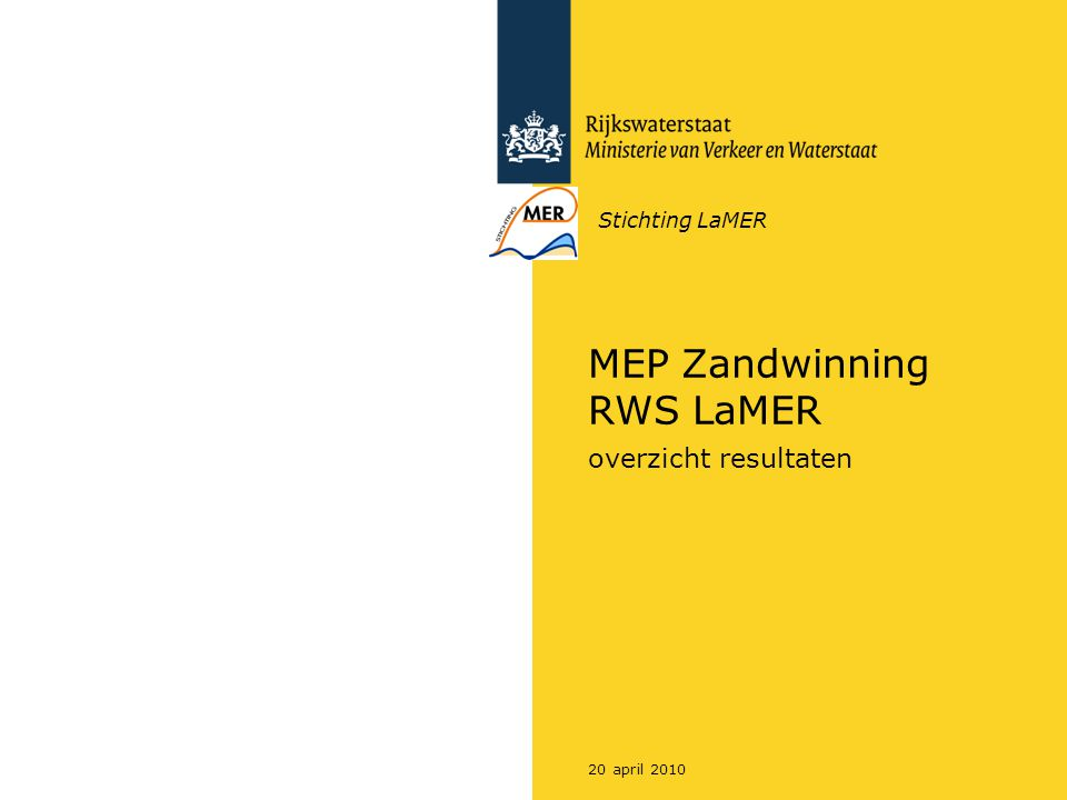 MEP Zandwinning RWS LaMER
