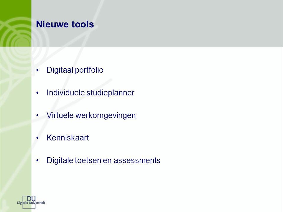 Nieuwe tools Digitaal portfolio Individuele studieplanner