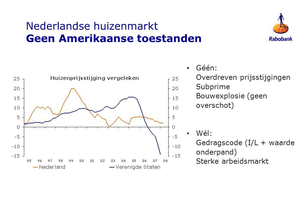Nederlandse huizenmarkt Geen Amerikaanse toestanden
