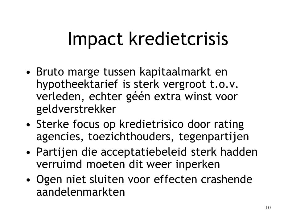 Impact kredietcrisis
