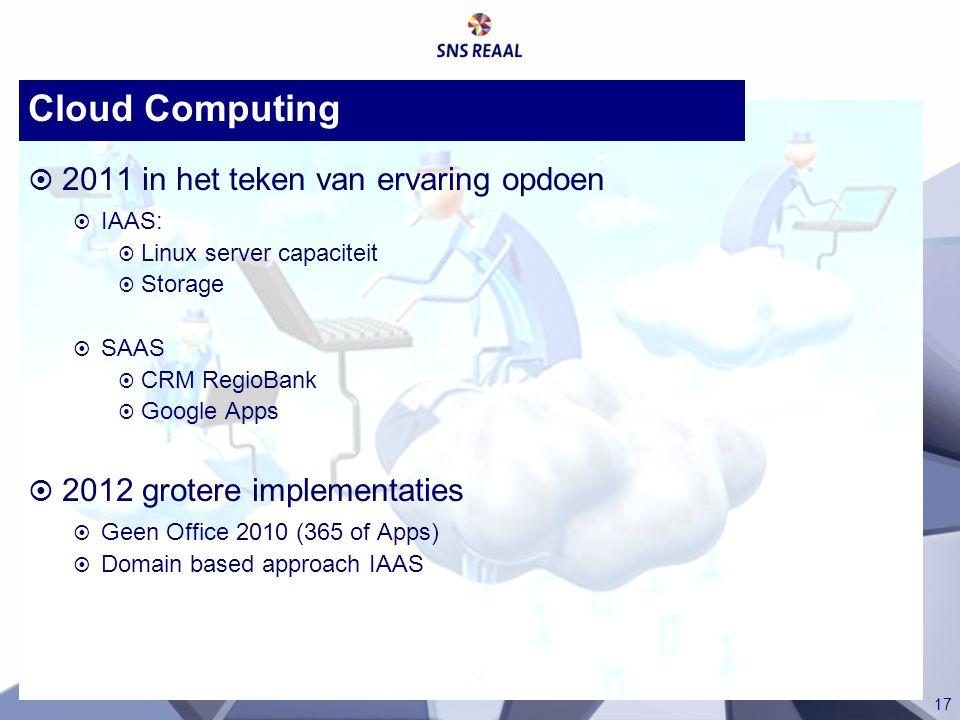 Cloud Computing 2011 in het teken van ervaring opdoen