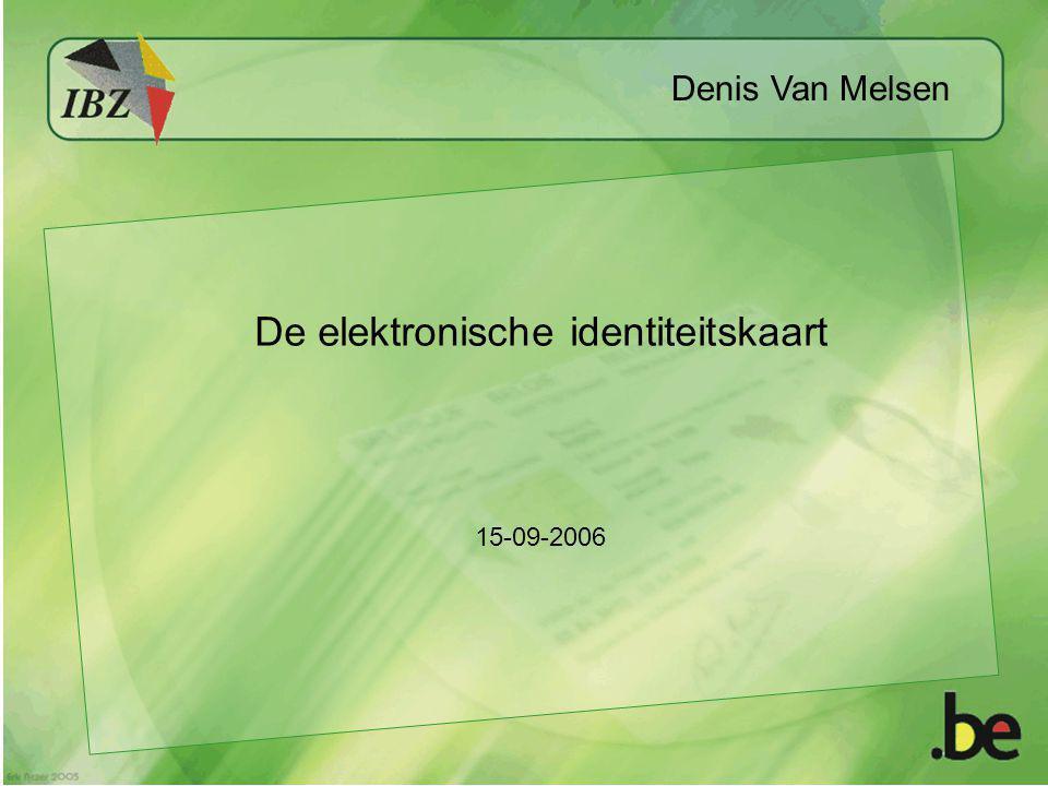 De elektronische identiteitskaart