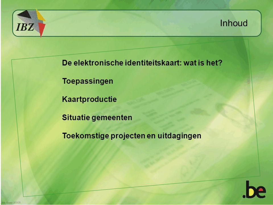 Inhoud De elektronische identiteitskaart: wat is het Toepassingen