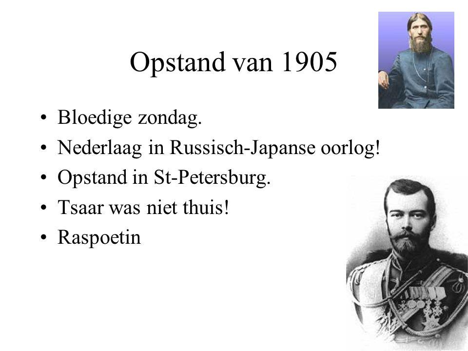 Opstand van 1905 Bloedige zondag.
