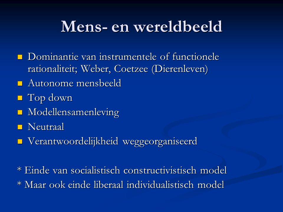 Mens- en wereldbeeld Dominantie van instrumentele of functionele rationaliteit; Weber, Coetzee (Dierenleven)