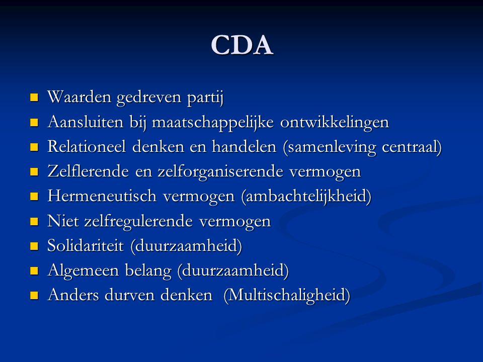 CDA Waarden gedreven partij