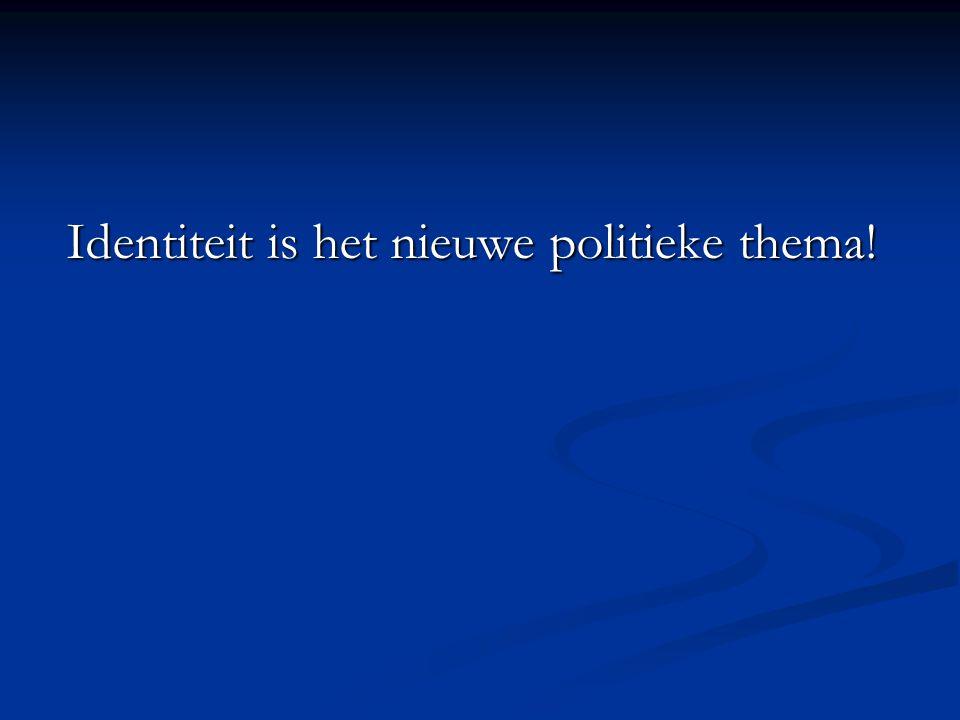 Identiteit is het nieuwe politieke thema!