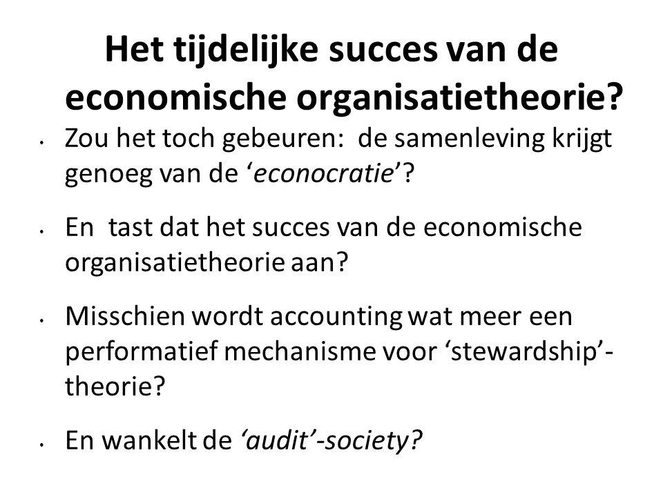 Het tijdelijke succes van de economische organisatietheorie