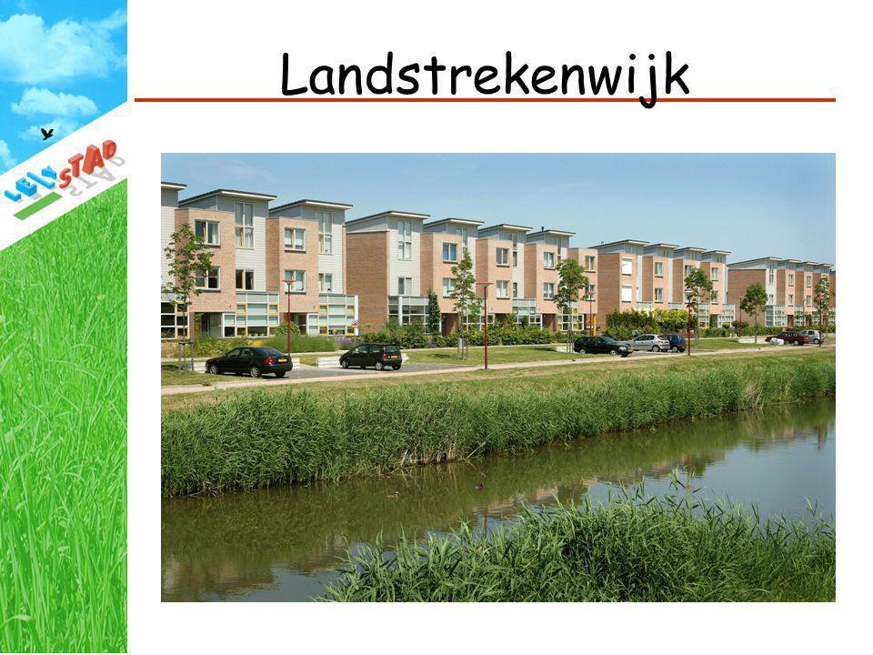 Landstrekenwijk 1800 woningen, vanaf 1995 – 2001, met name grondgebonden woningen.