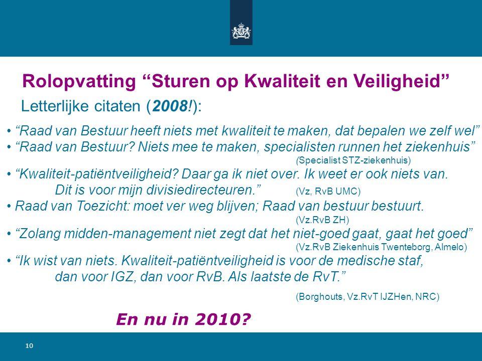 Bekende Citaten Over Kwaliteit : Governance bestuur en toezicht m b t kwaliteit