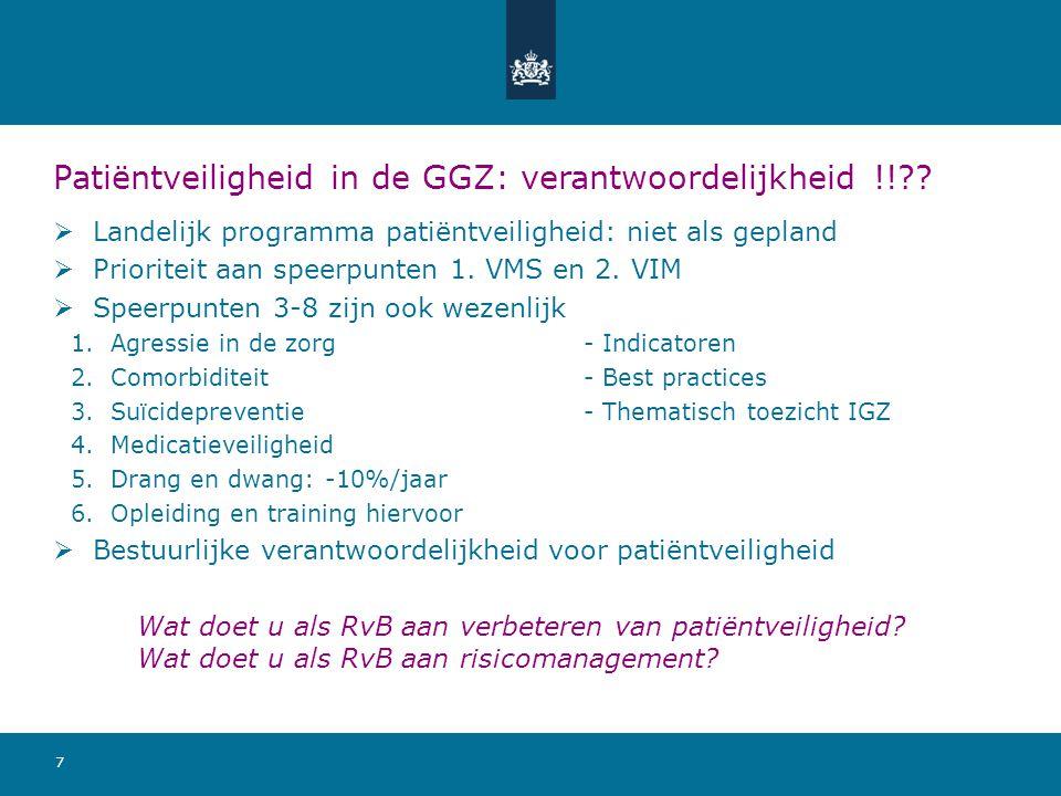 Patiëntveiligheid in de GGZ: verantwoordelijkheid !!