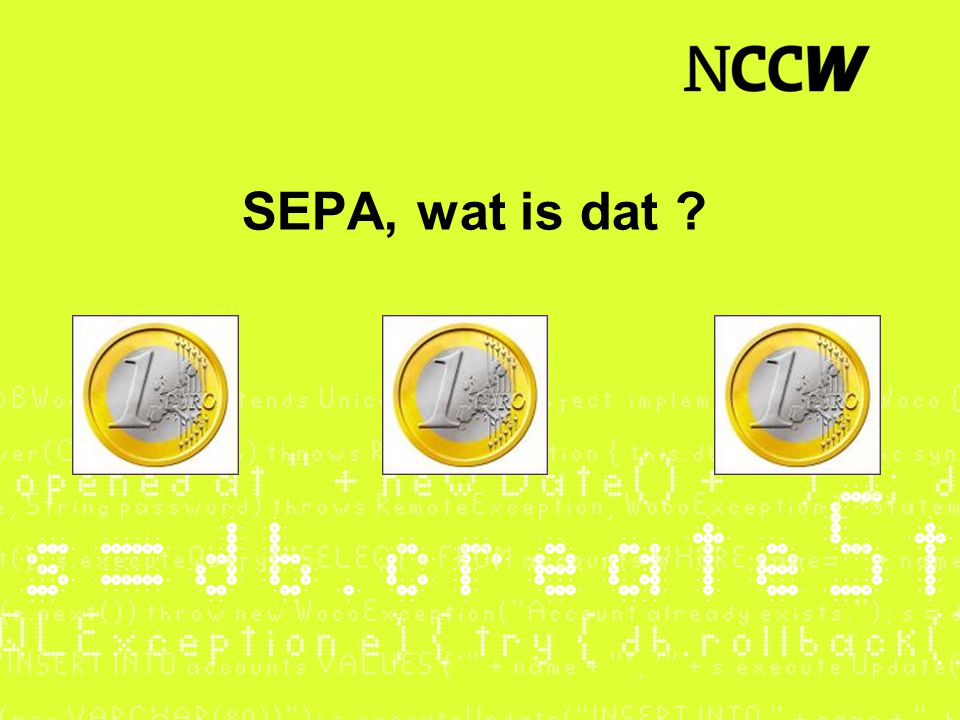 SEPA, wat is dat
