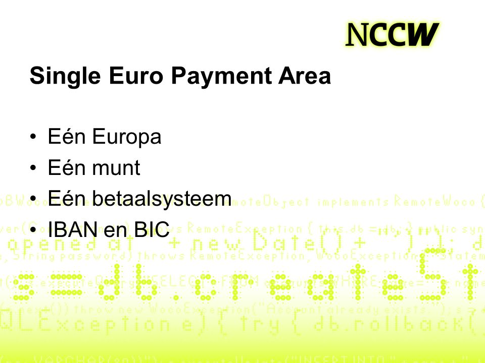 Single Euro Payment Area