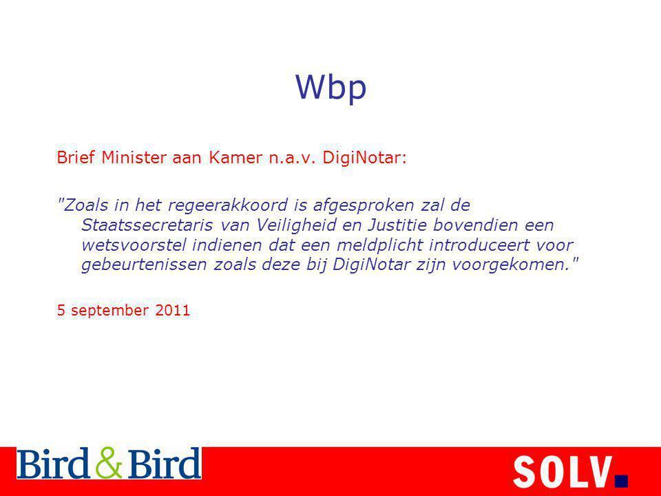 Wbp Brief Minister aan Kamer n.a.v. DigiNotar: