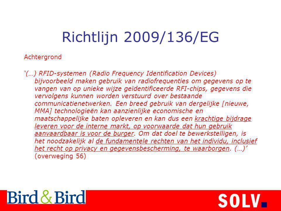 Richtlijn 2009/136/EG Achtergrond