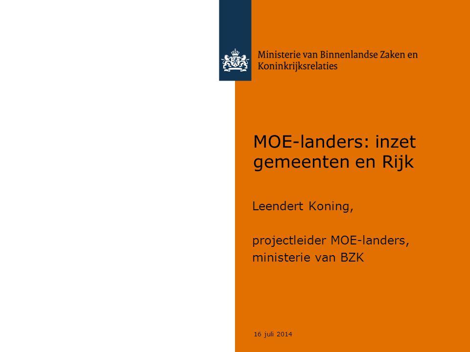 MOE-landers: inzet gemeenten en Rijk