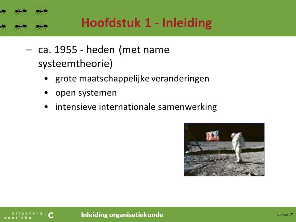 Hoofdstuk 1 - Inleiding ca. 1955 - heden (met name systeemtheorie)
