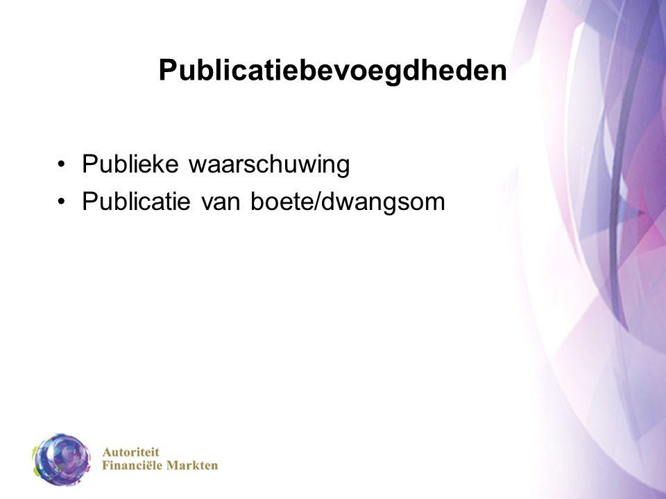 Publicatiebevoegdheden