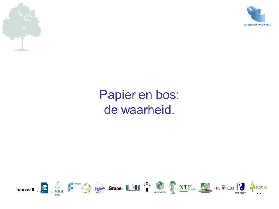 Papier en bos: de waarheid.