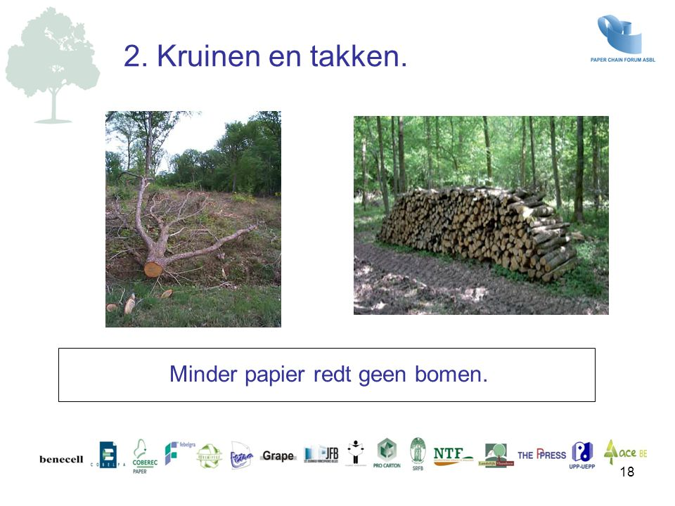Minder papier redt geen bomen.