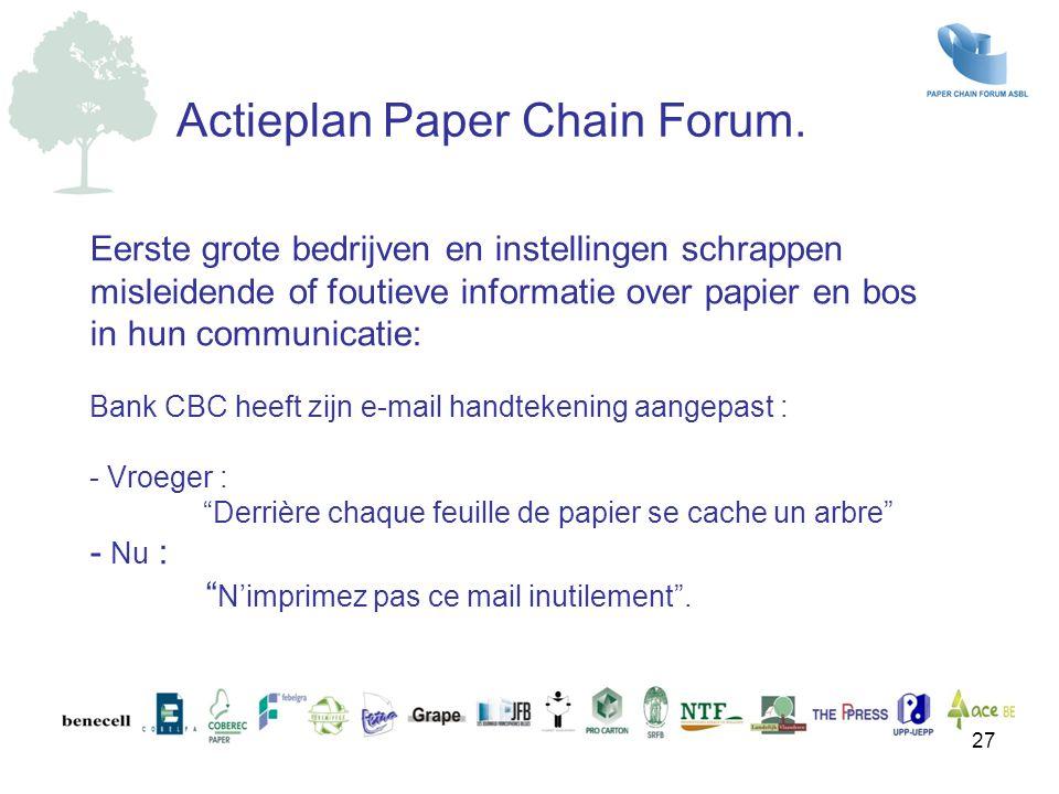 Actieplan Paper Chain Forum.