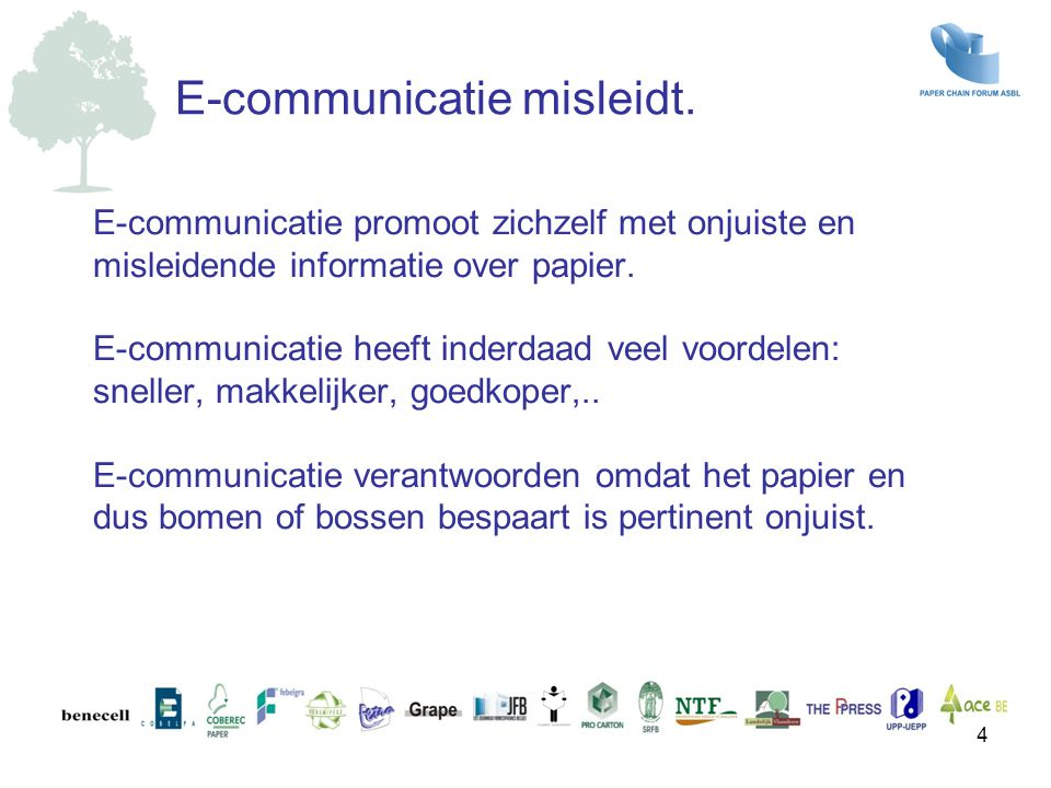 E-communicatie misleidt.