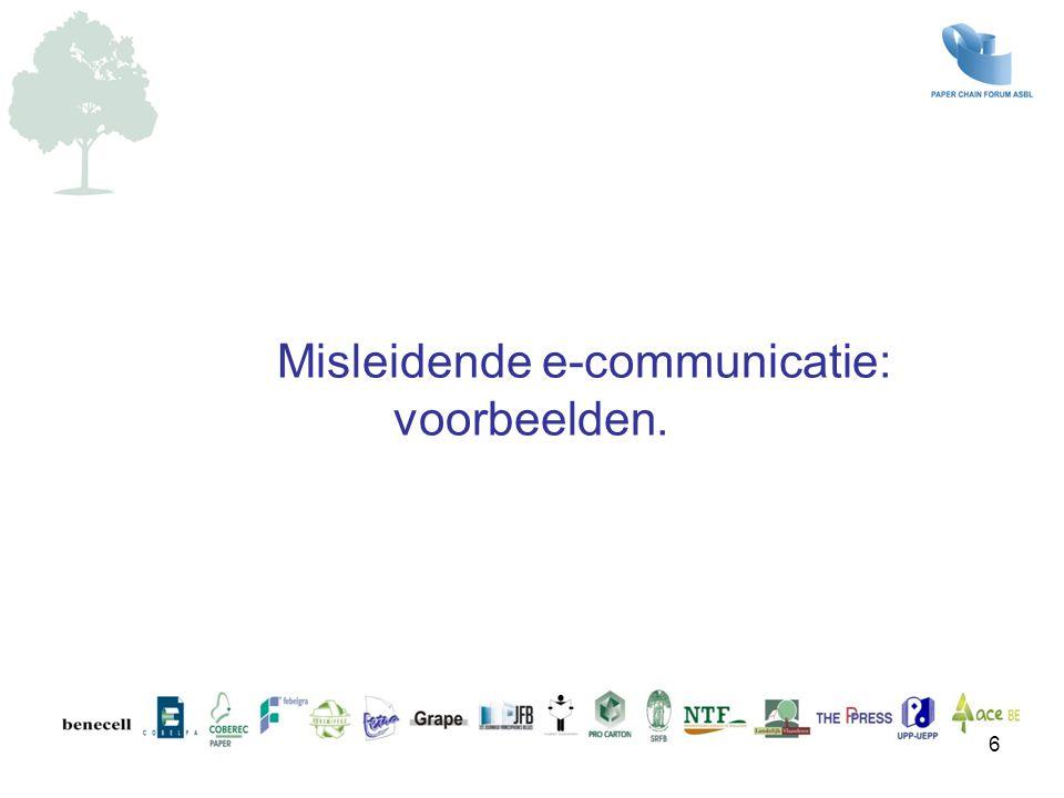 Misleidende e-communicatie: voorbeelden.