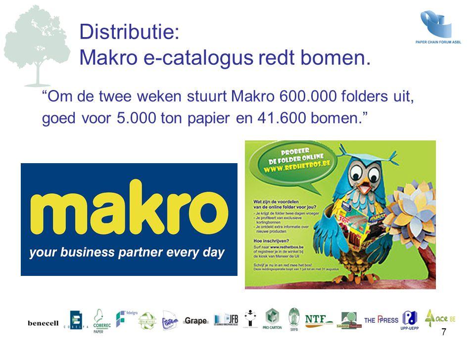 Makro e-catalogus redt bomen.