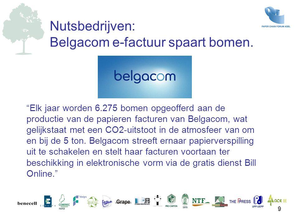 Belgacom e-factuur spaart bomen.