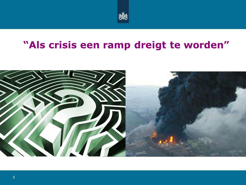 Als crisis een ramp dreigt te worden