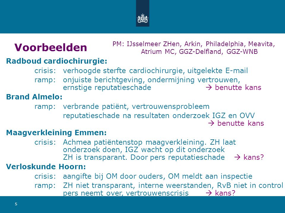 Voorbeelden Radboud cardiochirurgie: