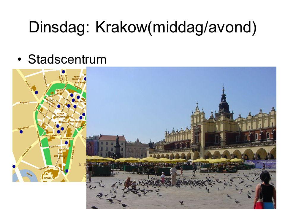 Dinsdag: Krakow(middag/avond)
