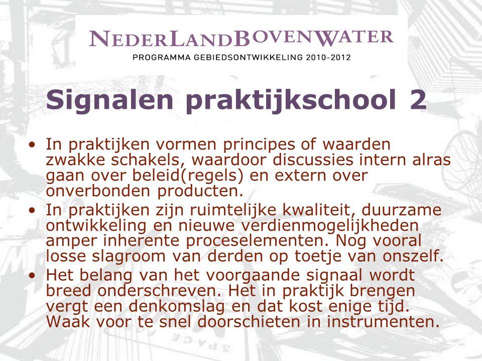 Signalen praktijkschool 2