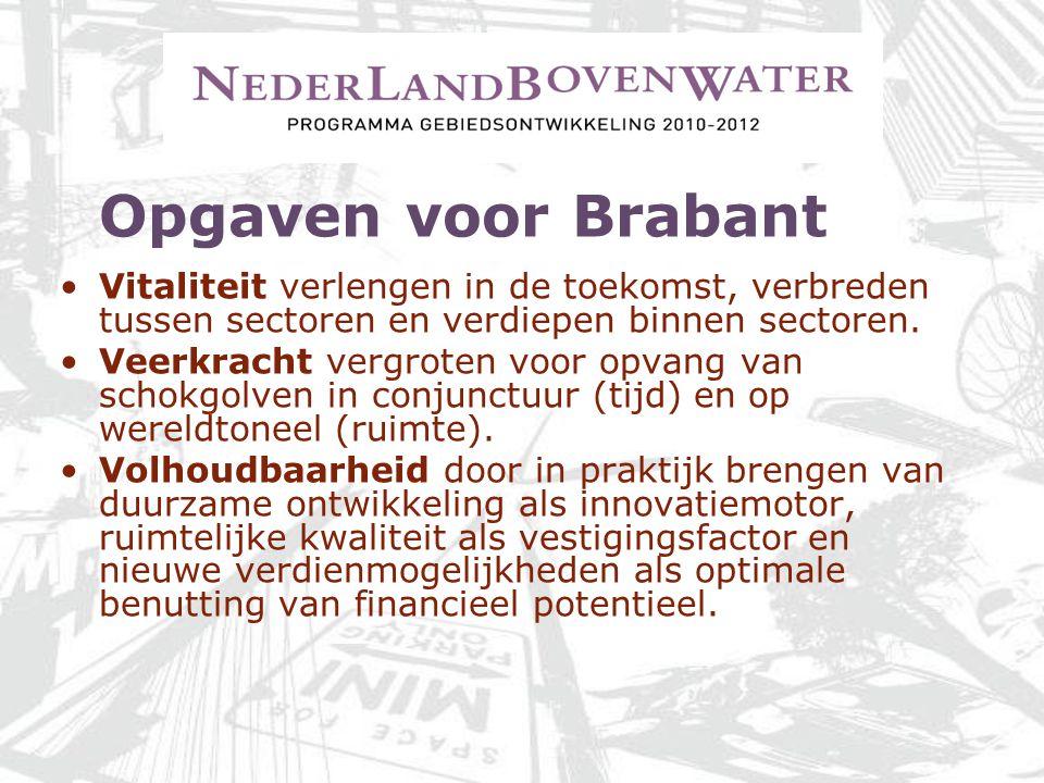 Opgaven voor Brabant Vitaliteit verlengen in de toekomst, verbreden tussen sectoren en verdiepen binnen sectoren.