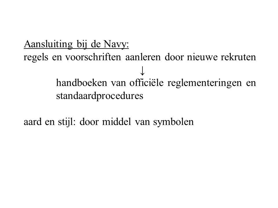 Aansluiting bij de Navy: