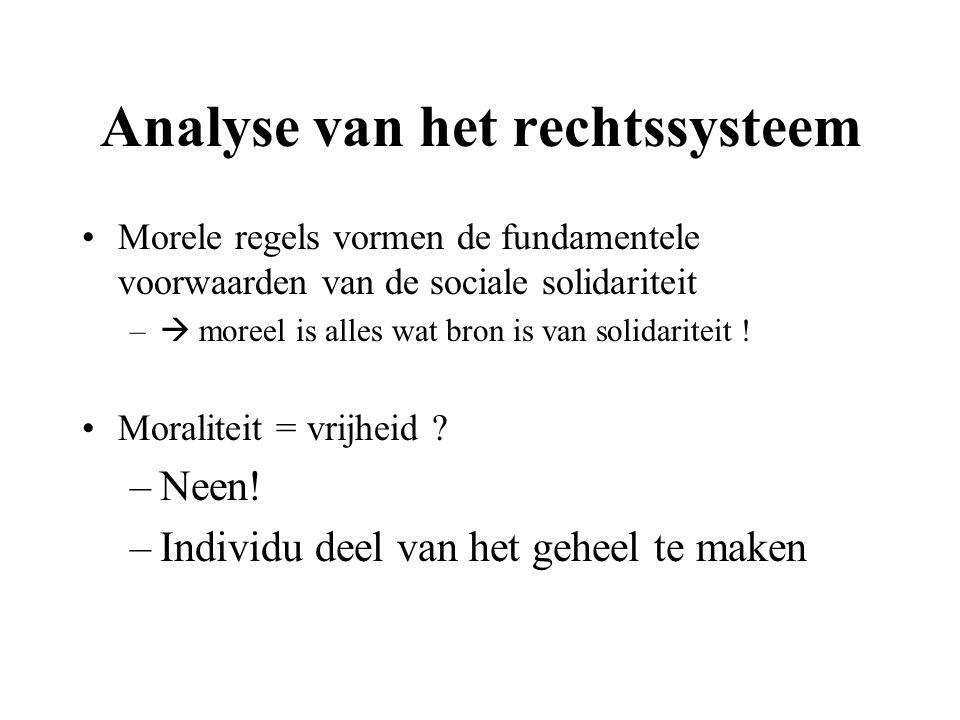 Analyse van het rechtssysteem