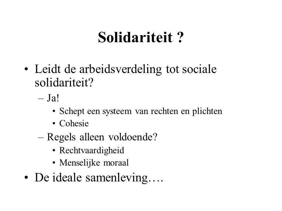 Solidariteit Leidt de arbeidsverdeling tot sociale solidariteit