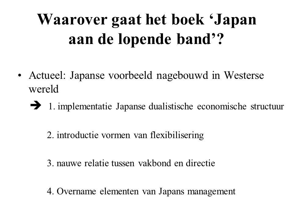 Waarover gaat het boek 'Japan aan de lopende band'