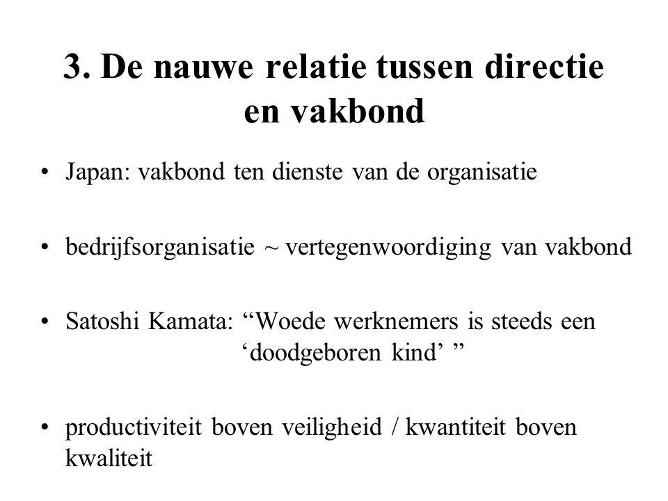 3. De nauwe relatie tussen directie en vakbond