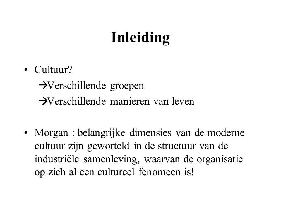 Inleiding Cultuur Verschillende groepen