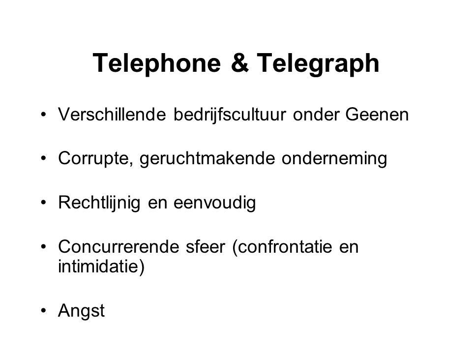 Telephone & Telegraph Verschillende bedrijfscultuur onder Geenen