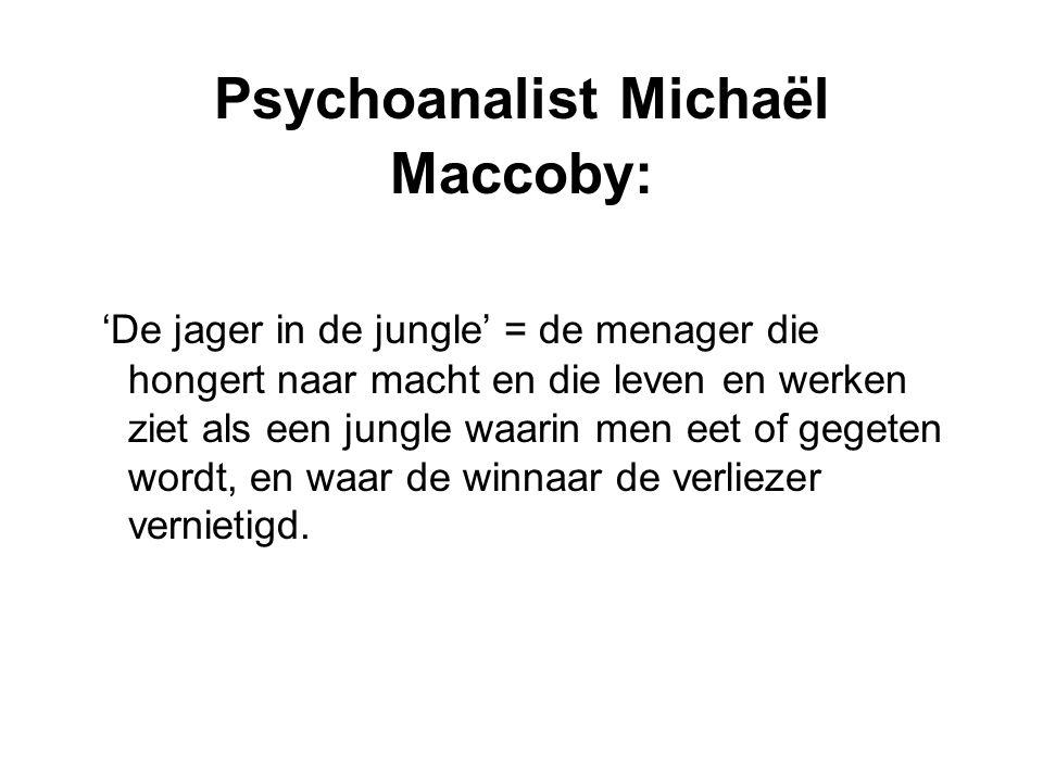 Psychoanalist Michaël Maccoby: