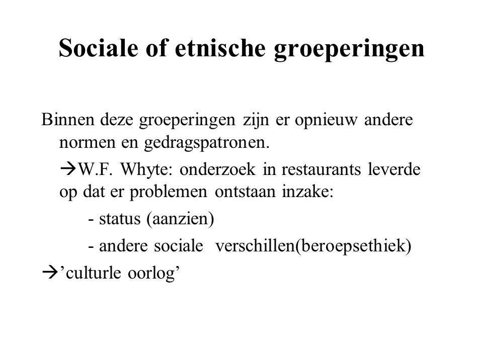 Sociale of etnische groeperingen