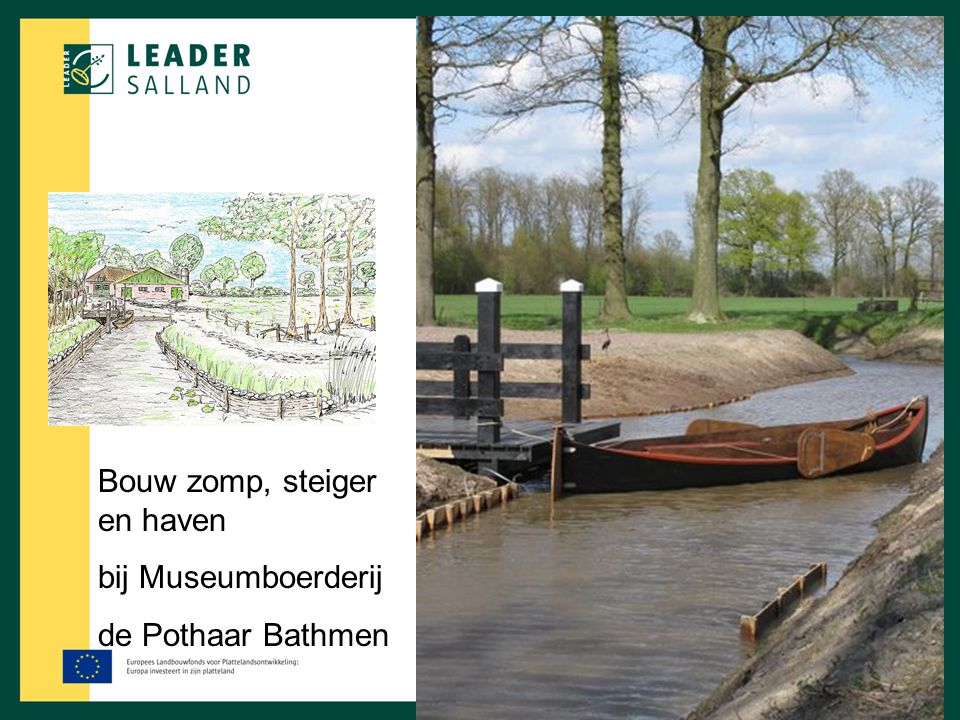 Bouw zomp, steiger en haven