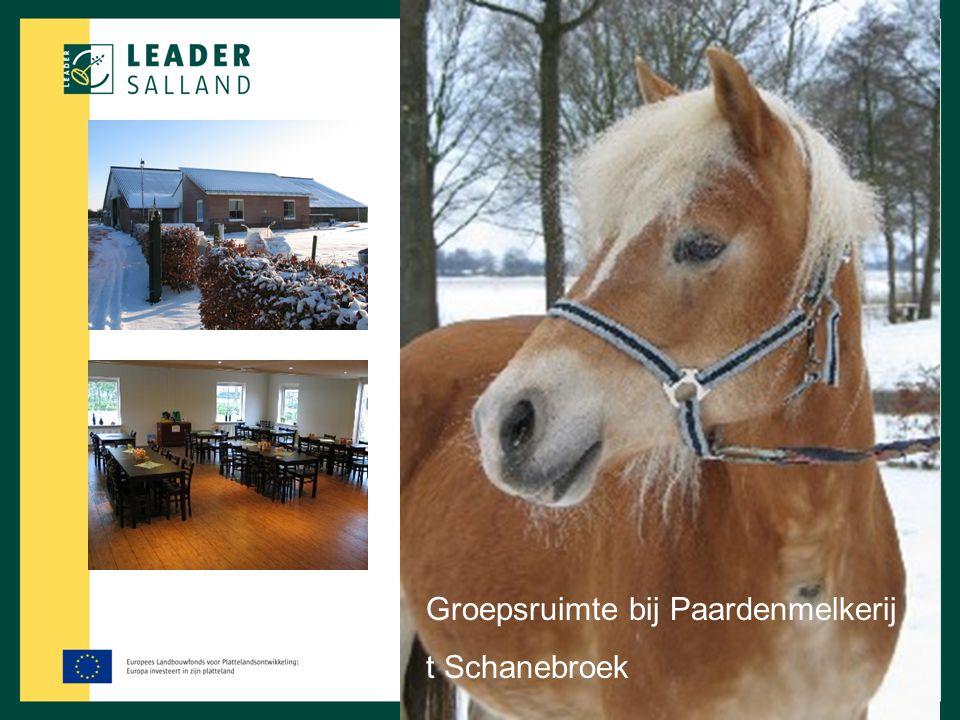 Groepsruimte bij Paardenmelkerij '