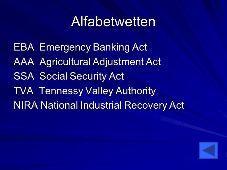 Alfabetwetten EBA Emergency Banking Act